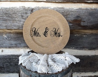Weddings, Wedding Gifts, Plates, Wedding Plates, Burlap Plates, Gift Plates, Home Decor Plates, Plate, Wedding, Home Decor, Gift