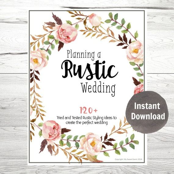 Printable Wedding Planner Binder Planning A RUSTIC Wedding