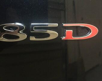 Tesla Model S / X Tailgate D Decal