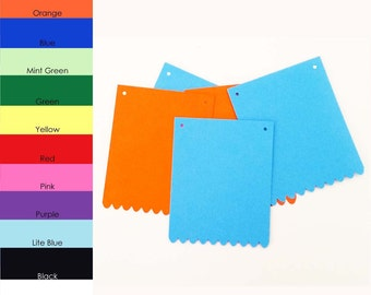 10 pack - Scallop Rectangle Banner, Banner Paper, Rectangle Scallop Paper, Banner Supplies, DIY Banners