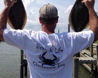 Brackish Life Chesapeake Bay T-shirt w/Crab