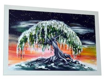 Willow Blossom. Original Framed Artwork.
