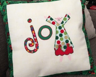 Handmade Applique pillow cover