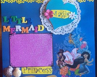 Little Mermaid Scrapbook Page, 12x12 Premade Scrapbook Pages, Disney Scrapbook Pages, Scrapbook Album 12x12, Premade Scrapbooks!