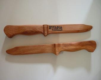training wooden knives
