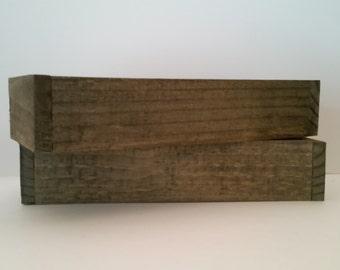 12 inch handmade wood planter box