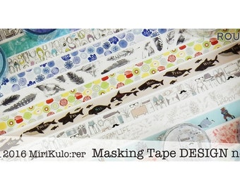 Washi Tape - Round Top Nordic Masking Tape Series - by MiriKulo:rer
