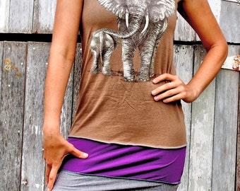 Elephant Tshirt Dress size L