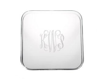 Monogrammed Acrylic Tray, Personalized Acrylic