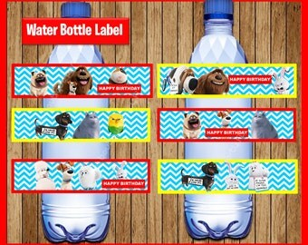 The Secret Life Of Pets Water Bottle Label instant download, Printable Secret Life Of Pets party Water Bottle Label, Pets Water labels