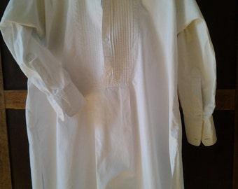 Fine cotton Vintage French men's formal shirt