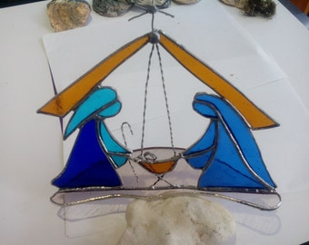 Stained glass Nativity - made to order
