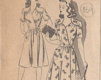 "1944 Vintage Sewing Pattern DRESS B36"" (169)"