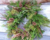 Evergreen Pine Cone Wreath