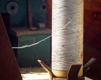 Abandoned,Weaver, Weaving, Spool, Fiber, Avtex, Meadville, PA, Pennsylvania
