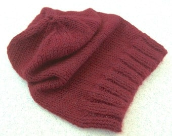 Slouchy Hand-Knitted Hat