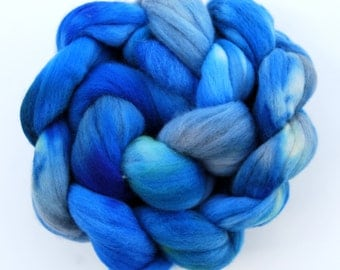 Hand dyed MERINO wool roving spinning felting fibre, 100g/3.5oz