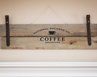 Hand Crafted Wood Coffee Sign