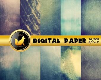 Blue Vintage Digital Paper,Vintage Scrapbook Paper,Vintage Background,Vintage Backdrop,digital paper,Blue Old Background,scrapbooking paper