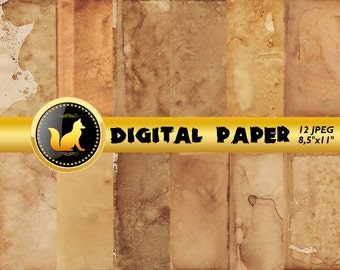 Old Paper, Old Pages Texture,Digital Paper,Old Scrapbook Paper,Old Pages Background,Vintage Backdrop,Old Background,Antique scrapbook paper