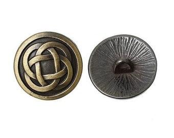 6 bronze round buttons 1.7 cm sewing scrapbooking DECORATION LANNIERE