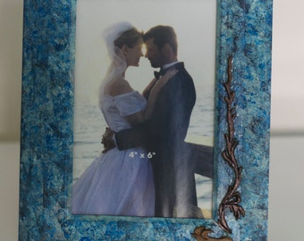 Wooden painted photo frame