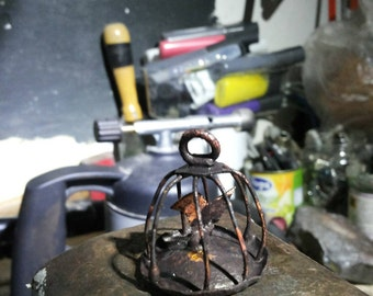 Copper bird cage