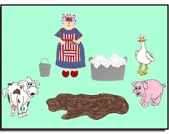 Mrs. Wishy-Washy/Pre-K/Kindergarten/Storytelling Set/for/Teachers/Parents/Vibrant Colors