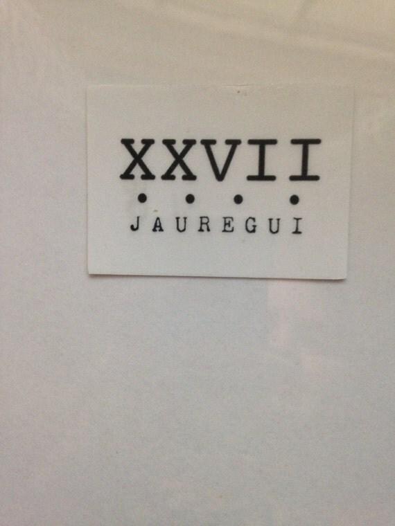 Clear lauren jauregui 39 s xxvii tattoo from joseesstickers for Tattoo shops gainesville ga