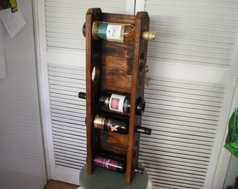 7 Bottle Wine rack Made from recycled material