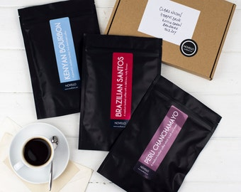Monthly Coffee Subscription x 3 months - Single Origin Coffee every month - Coffee Lovers Gift - Coffee gift for Dads - Fathers Day