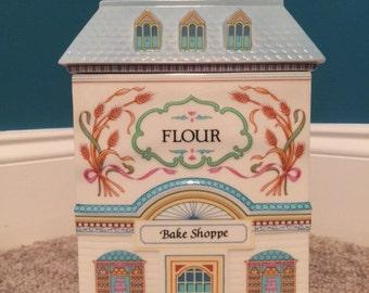 Flour Caddy, Lenox Village Canister Series, Porcelain