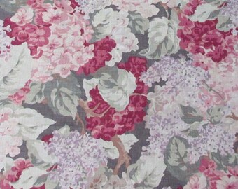 7-3/8 Yards P Kaufmann Screen Printed Vintage Home Decor Fabric Shabby Chic Cottage Style