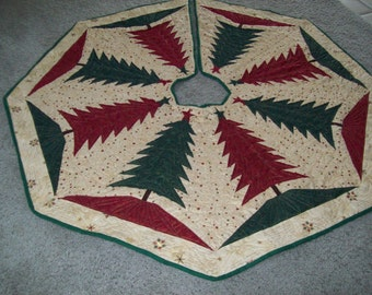 Christmas Tree Skirt #38 Quilted