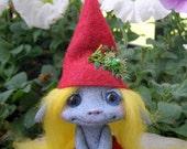 "OOAK Woodland Gnome Trollfling Troll girl ""Helga"" by Amber Matthies"