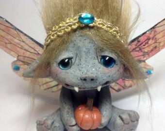 "Beautiful One of a kind Fall Fairy Gargoyle Trollfling Troll doll ""Annah"" by Amber Matthies"