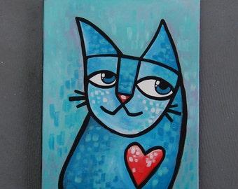 "8x10 Acrylic Cat Painting - ""Bosco"""