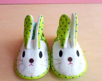 Bunny Booties, Rabbit Booties, Elastic Baby Booties, Bunny Baby Shoes, Rabbit Baby Shoes, Chubby Bunny 01