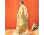 Peacock Kimono Print 8x10