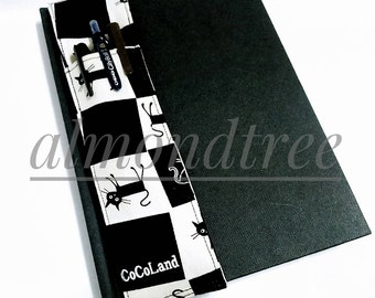sale Cat Black and White journal notebook pen holder sketch book bandolier stationery id20160921 gift artist writer plein air drawing tool
