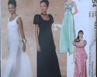 Josephine Era Empire Waist Wedding Gown / Bridesmaid Prom or Formal Dress // McCall's 3954 // sizes xs - sml