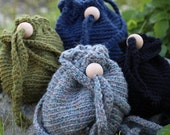 Wool Purse Satchel Hand Crocheted