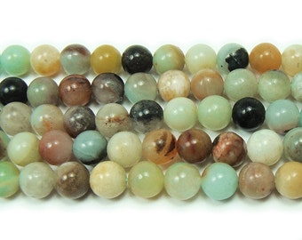 Multi Amazonite Natural Round Gemstone Beads