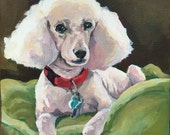Custom Pet Portrait Painting on gallery canvas For Beth and James