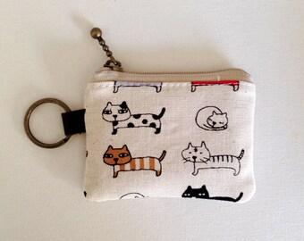 Key/coin purse - cats