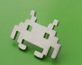 Space Invader Tie Tack or Pin