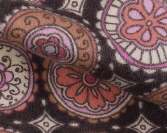 "Brown Patterned Flannel Fabric - 44"" Wide - 2 Yard (PV-931)"