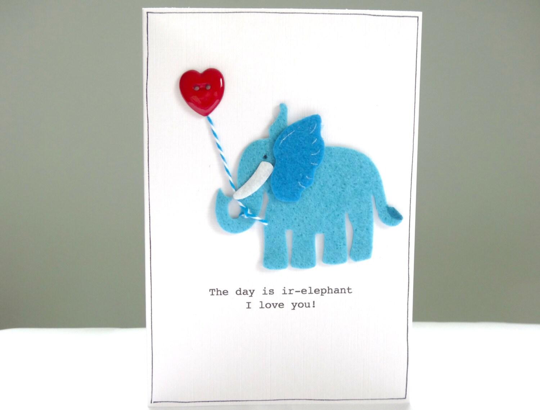 Personalised Valentines Card Alternative elephant Valentines – Elephant Valentines Card