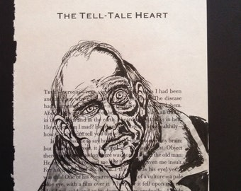 A Tell-Tale Heart illustration on the book title page