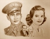 Family Portrait, Custom Drawing from your old photos